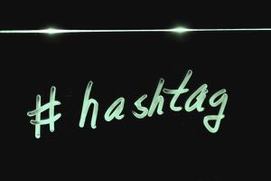 Neon hashtag - twitter hashtags for writers