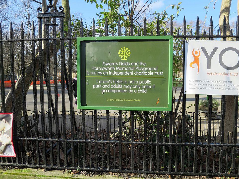 Coram's Fields in London