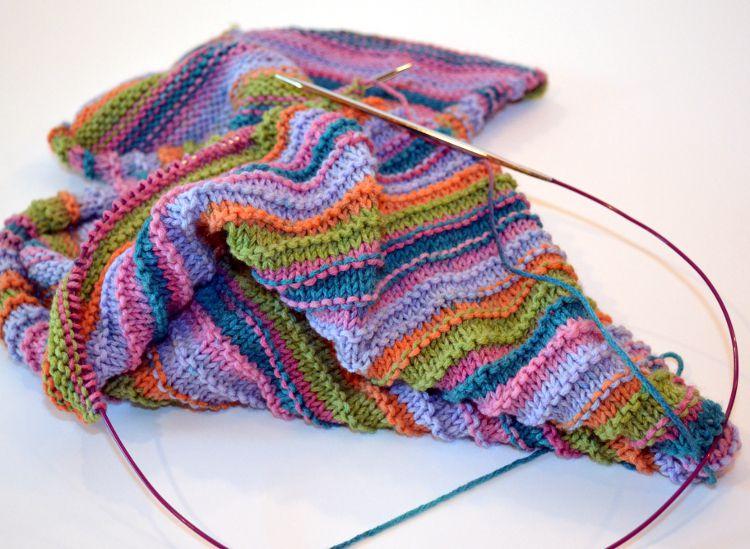 Flat Knitting with Circular Needle