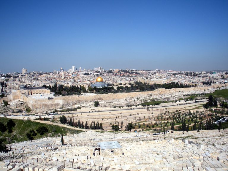 Jerusalem from Mount of Olives Viewpoint - Israel