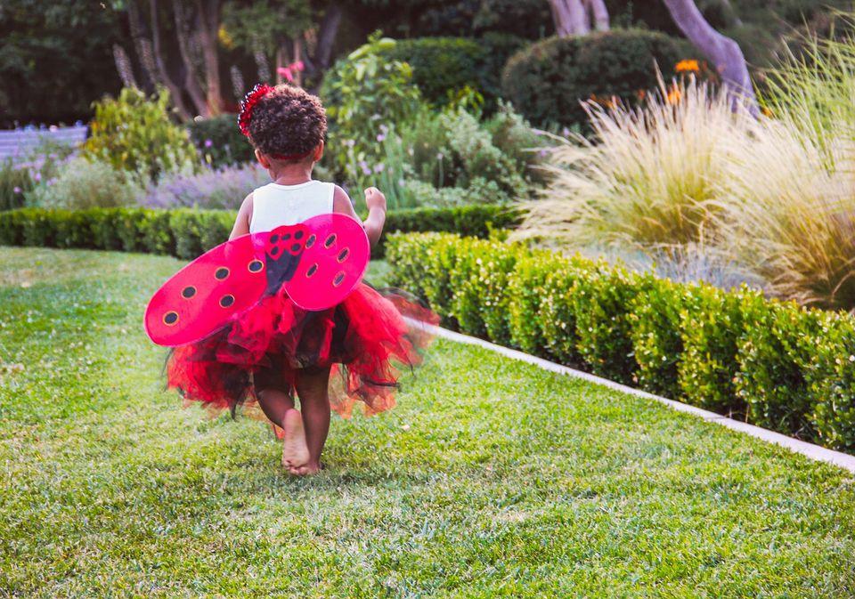 Child playing ladybug games