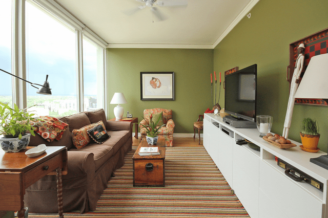 Green Condo Living Room