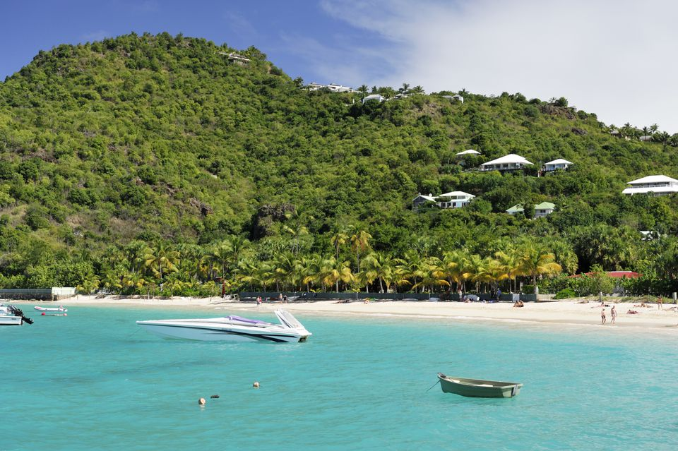 France, Guadeloupe (French West Indies), Saint Barthelemy, Saint Jean, the beach