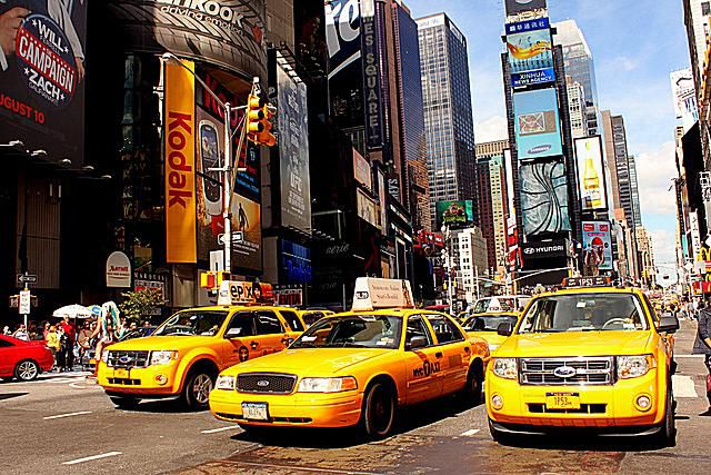 Taxis in Times Square, New York City