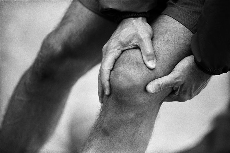 Knee pain associated with pseudogout.