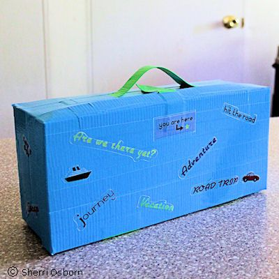 How to Make a Toy Suitcase Using Duct Tape