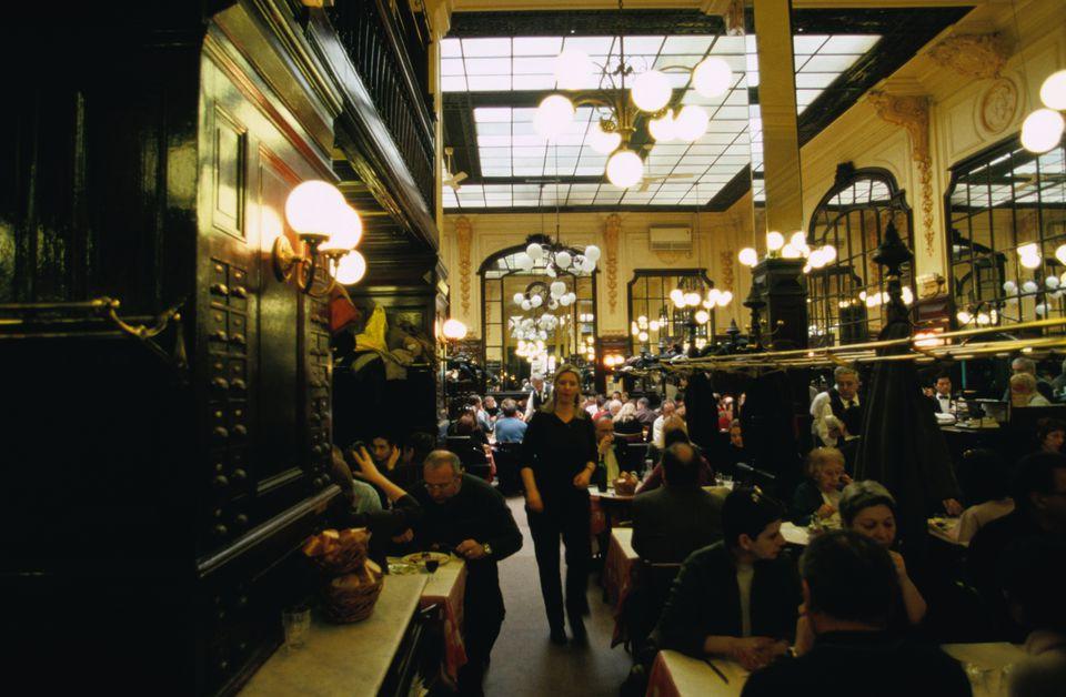 Customers inside Chartier.