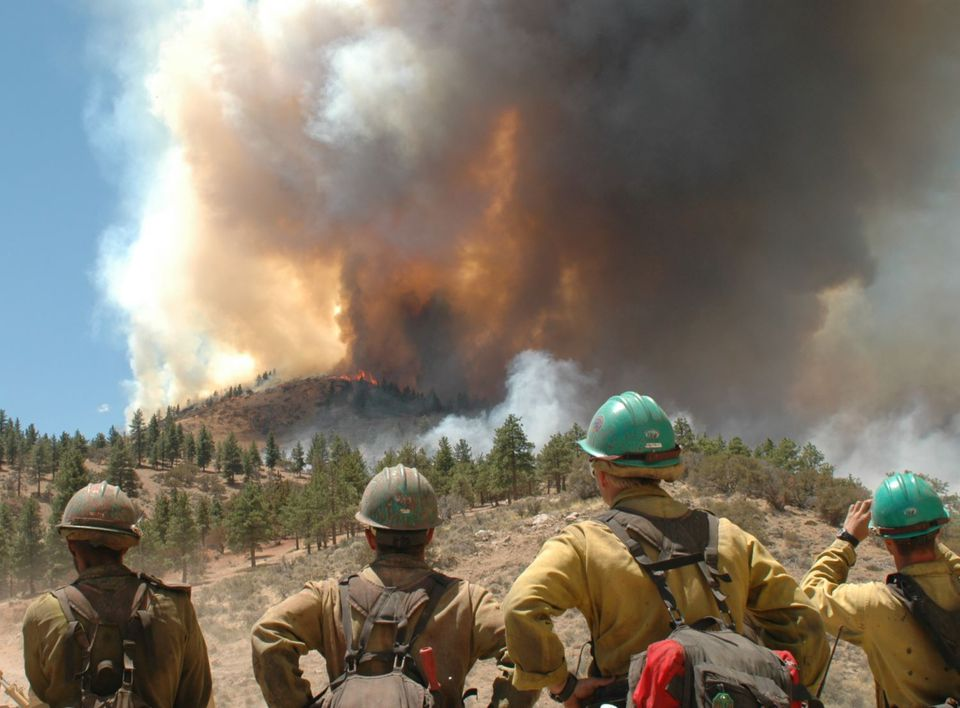Firefighters at the Hawken Fire near Reno, Nevada.
