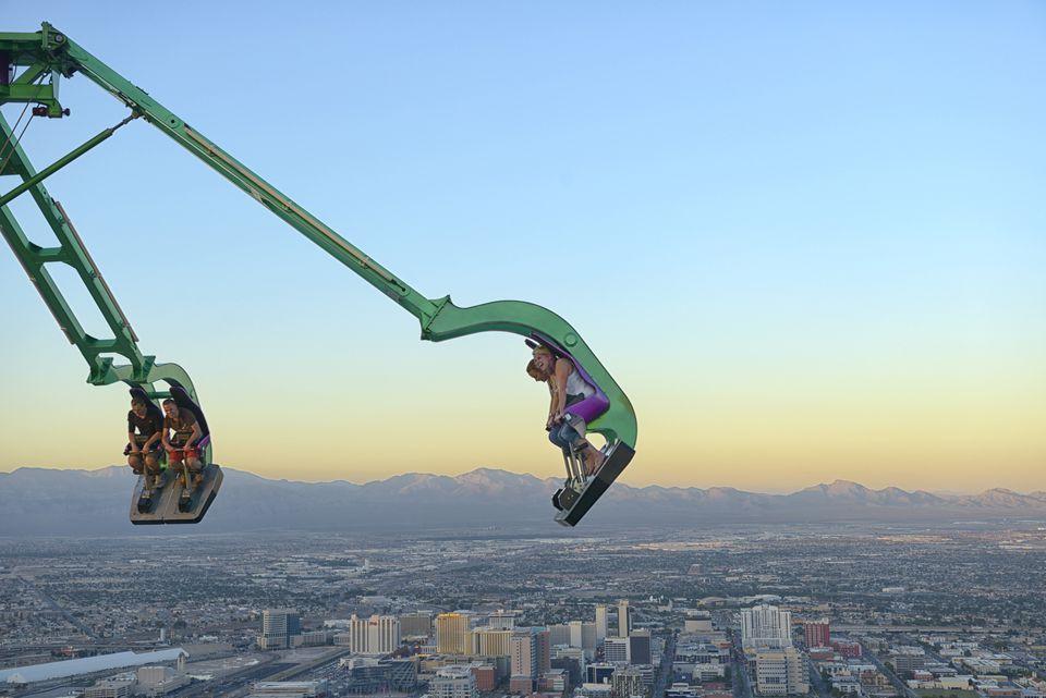People over Vegas downtown,Las Vegas, Clark County, Nevada, USA