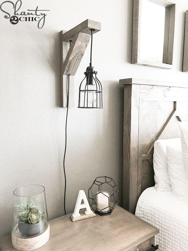 DIY bedroom sconce project