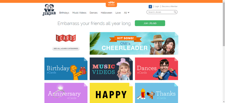 The Top 10 Sites for Free eCards – Free Jibjab Birthday Card
