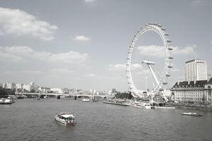 River Thames, London Eye, London, Great Britain
