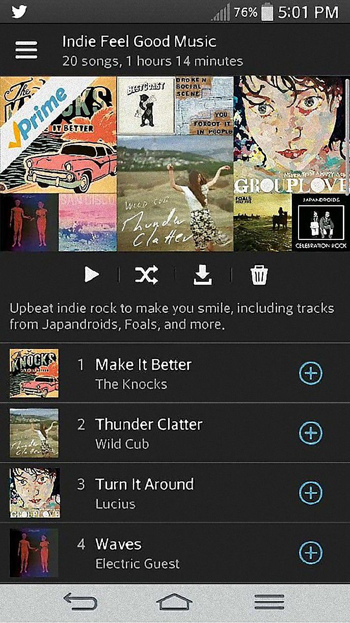 Amazon Prime Music iOS App
