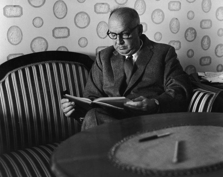Russian-born writer Vladimir Nabokov