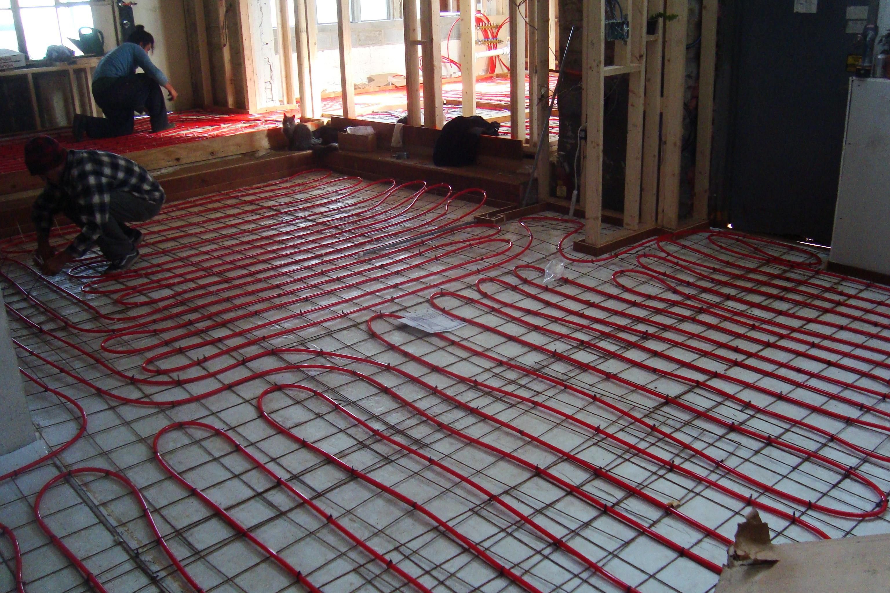 Electric radiant floor heating basics cost pros cons - How do heated bathroom floors work ...