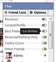 how to set offline in facebook
