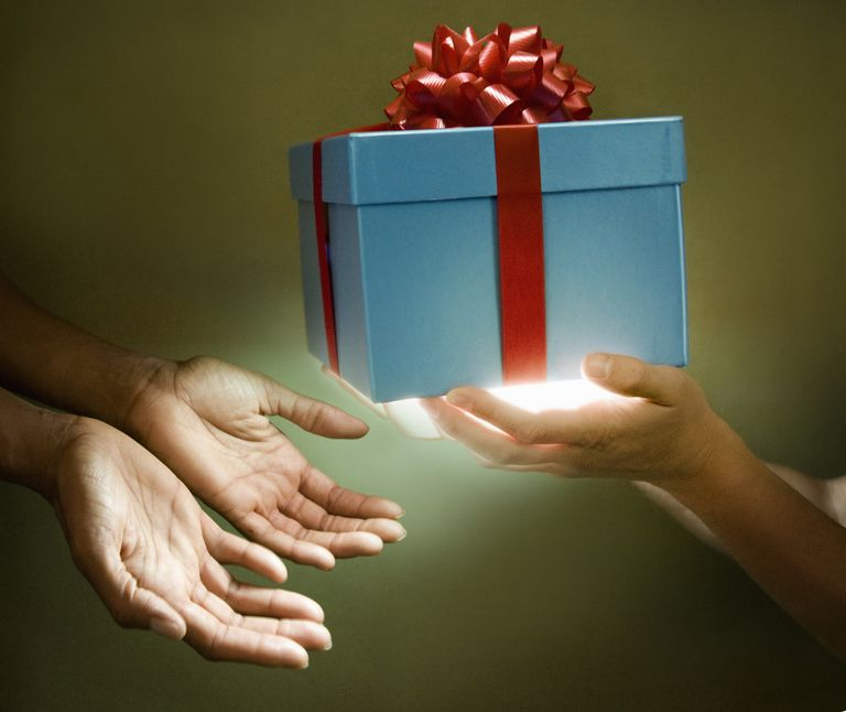 Gifting is an example of verbing