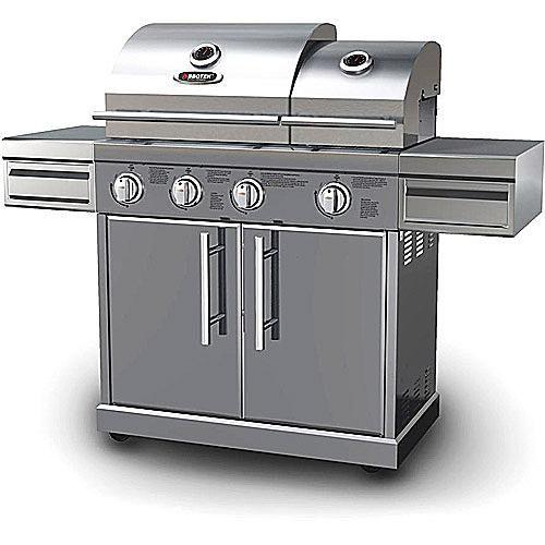 BBQTek Split Lid Gas Grill Model #SSS3416TB