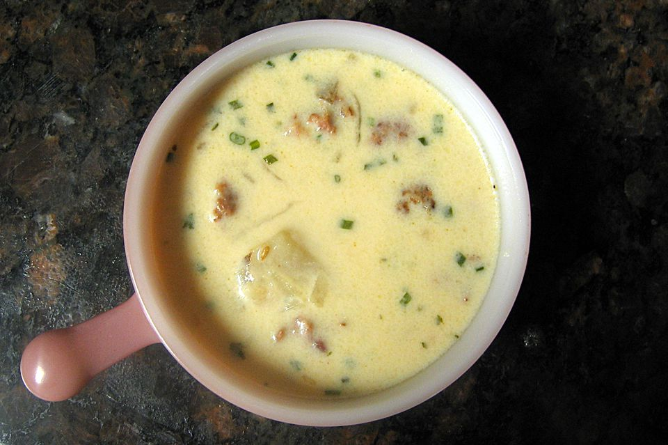 Potato Soup With Sausage, Slow Cooker or Stovetop