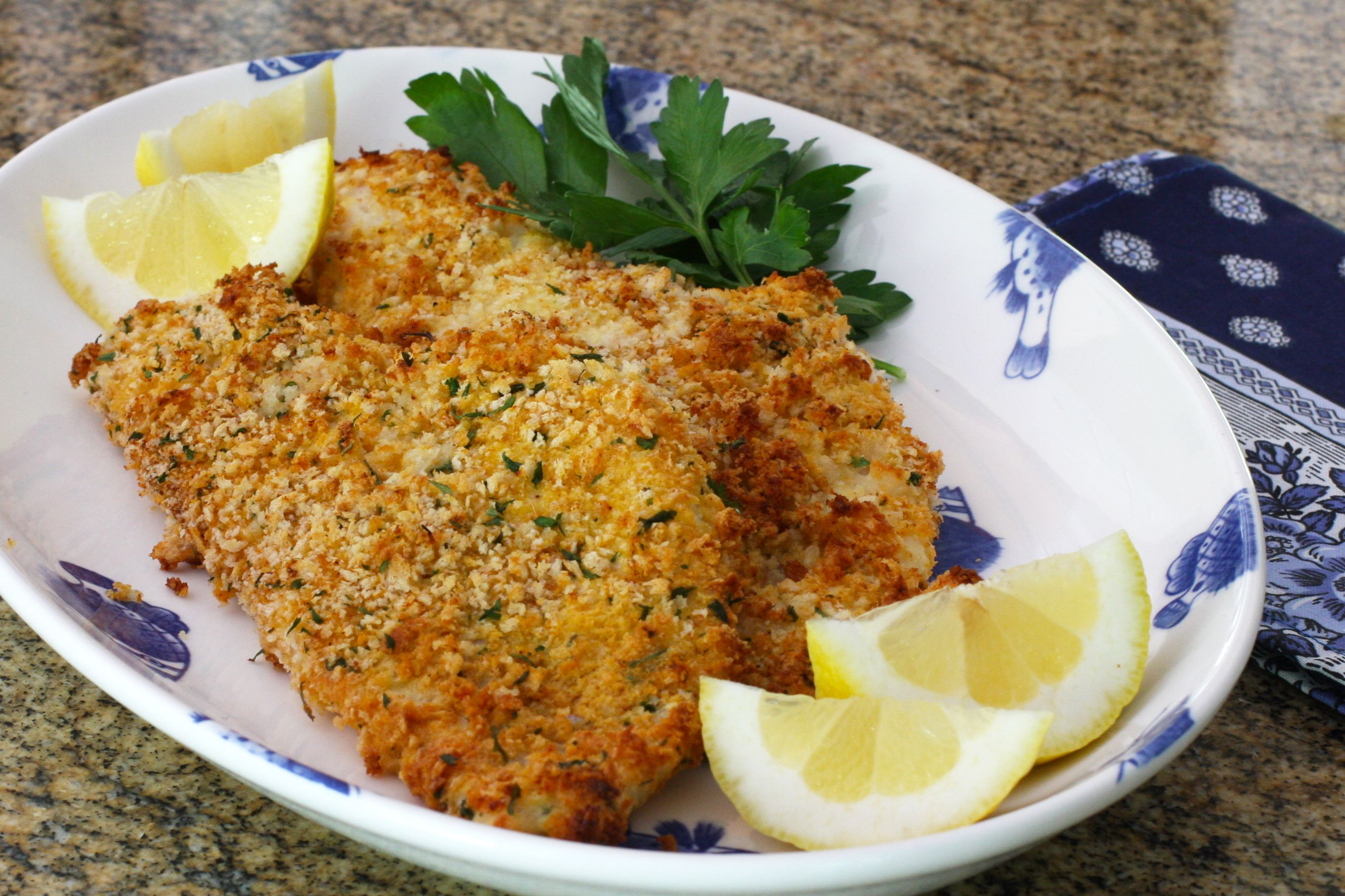 Baked Panko Crusted Fish Fillets Recipe
