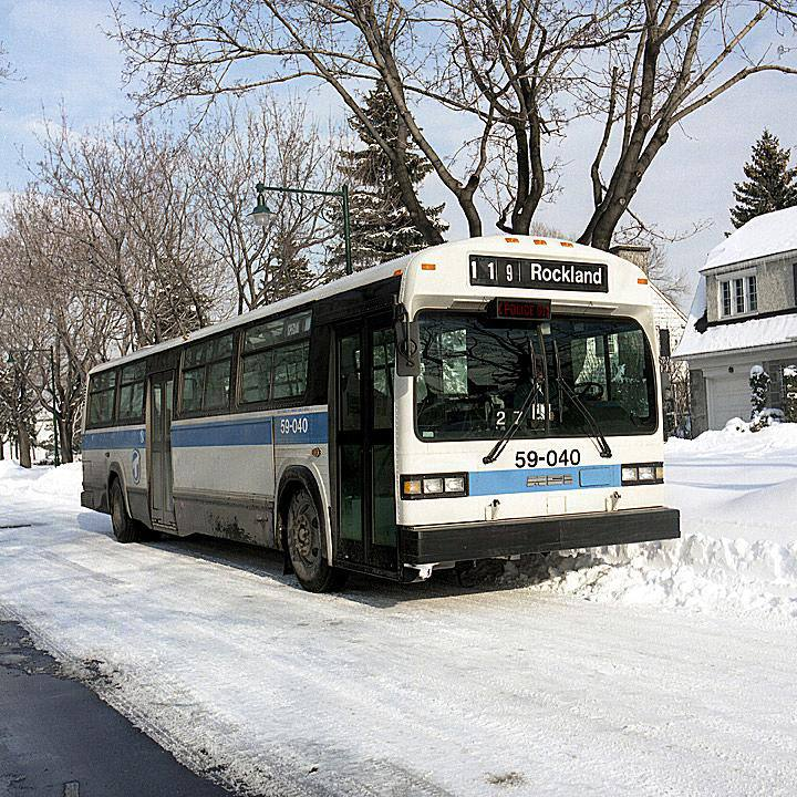 Montreal Bus in Snow