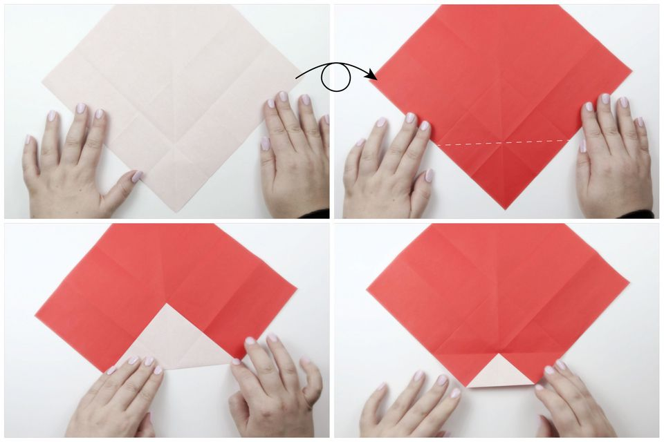 origami santa tutorial 03
