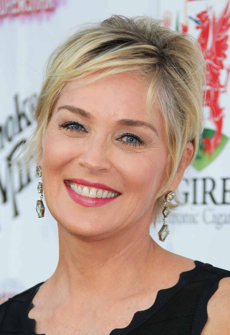 Sharon stone spiky short haircut for older women over 50 getty images - Sharon Stone Jpg