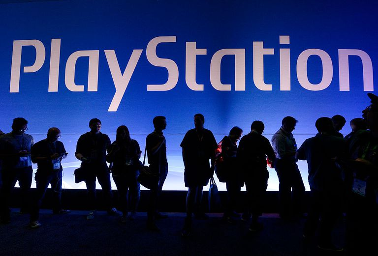 Playstation logo at an event