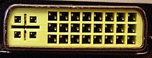 Up-close picture of a DVI connector