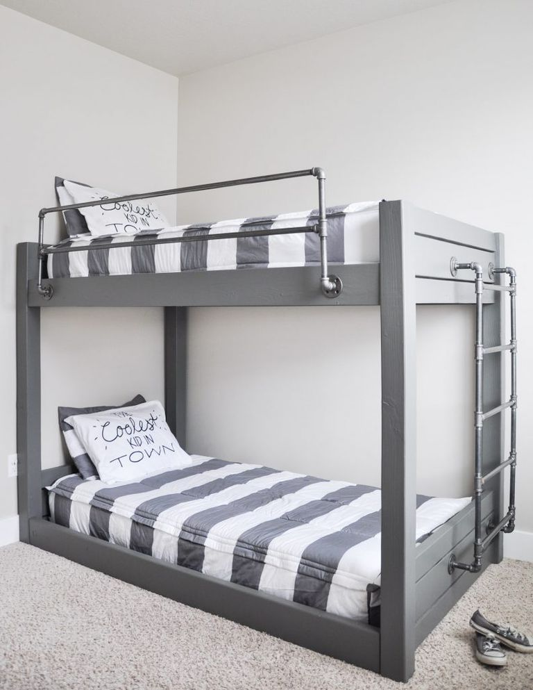 DIY Industrial Bunk Bed Plan from Cherished Bliss