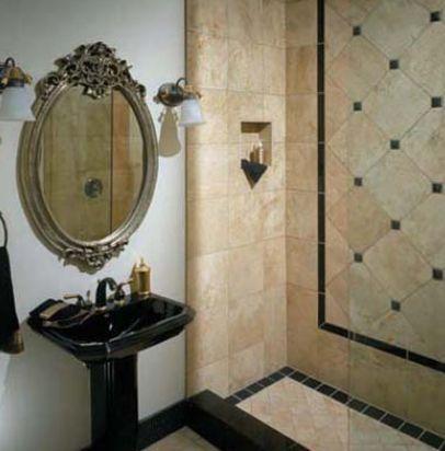 Travertine Tile Ideas - Granite and Travertine in Shower