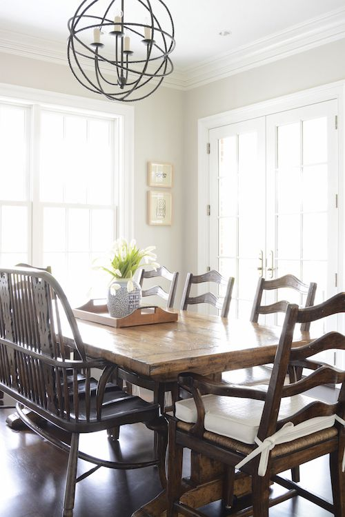 traditional home dining rooms. Farmhouse Dining Room  A Chic Traditional Home In New England