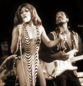 Tina with Ike Turner on stage in the early Seventies