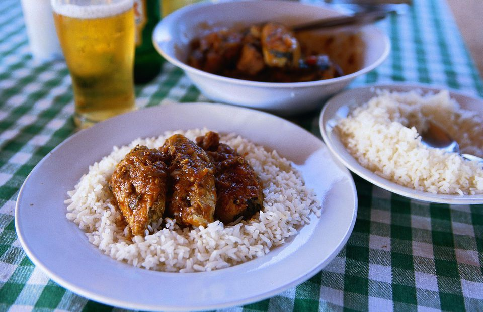 Indian food paired with beer