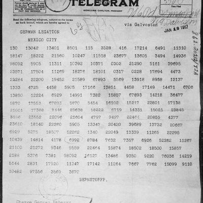 Zimmermann Telegram - World War I