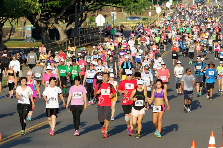 Honolulu Marathon Walkers