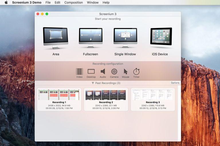 Screenium screen recording app