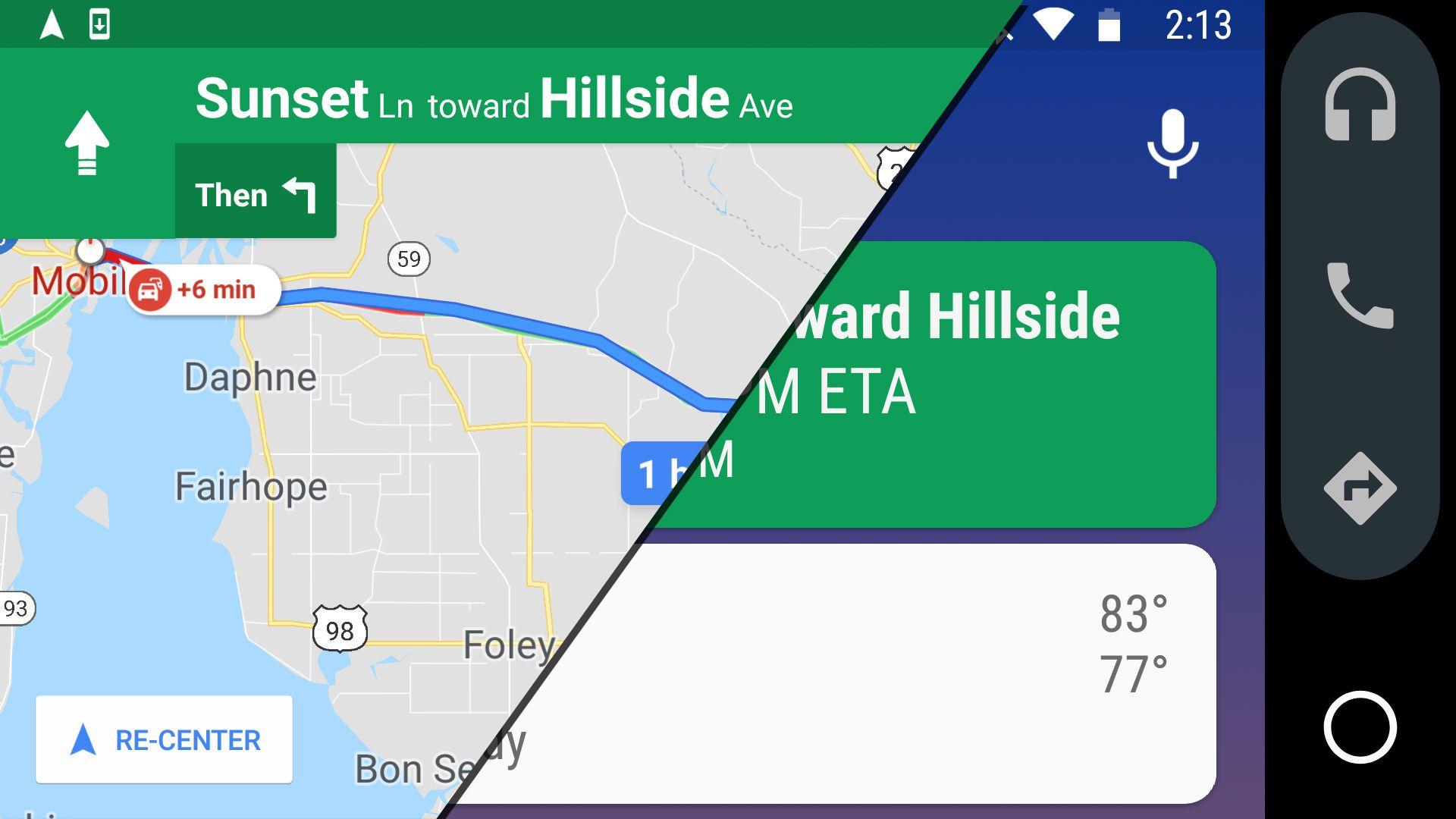 google assistant maps integration vs android auto