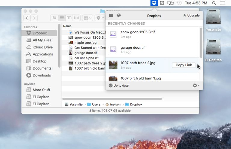 Dropbox for Mac Desktop