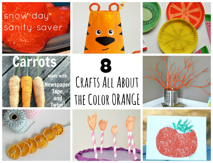 8 Crafts All About The Color Orange