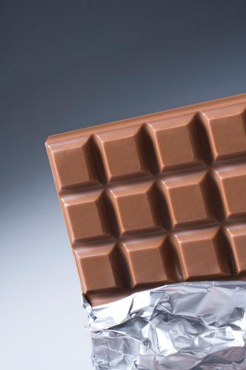 Closeup of a chocolate bar
