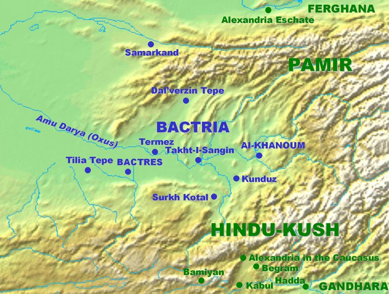 Bactria and its major cities