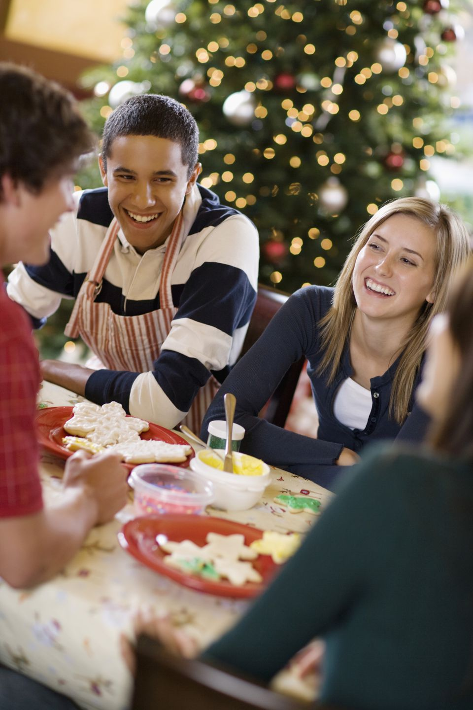 Get your teen involved in decorating Christmas cookies.