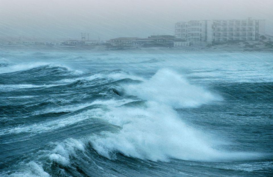 A hurricane hits Rocky Point, Mexico