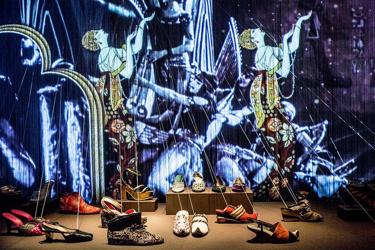 Exhibición de Zapatos Ferragamo