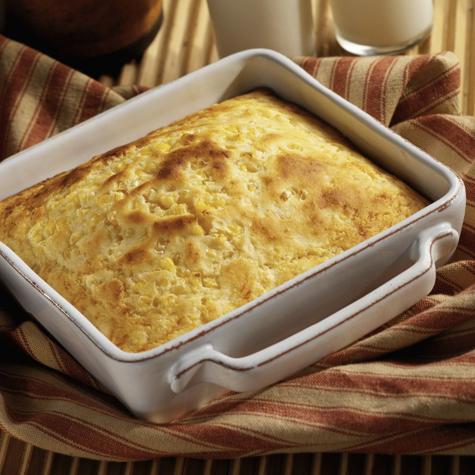 cornbread in baking dish