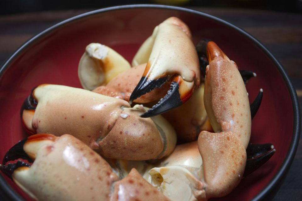 Bowl of Stone crab claws