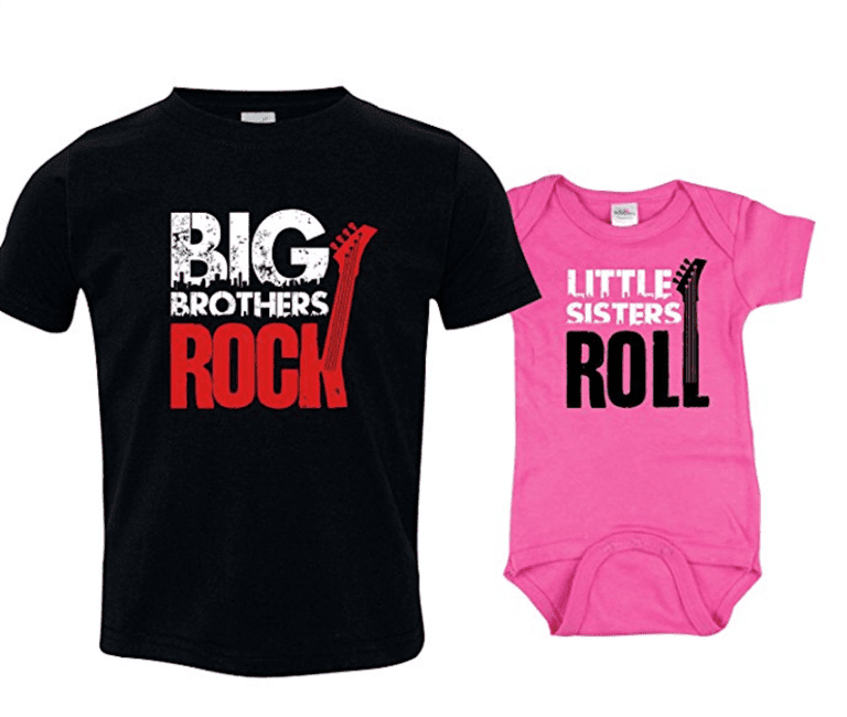 Attractive 12 Cool Matching T-Shirts for Big and Little Brothers and Sisters PA29