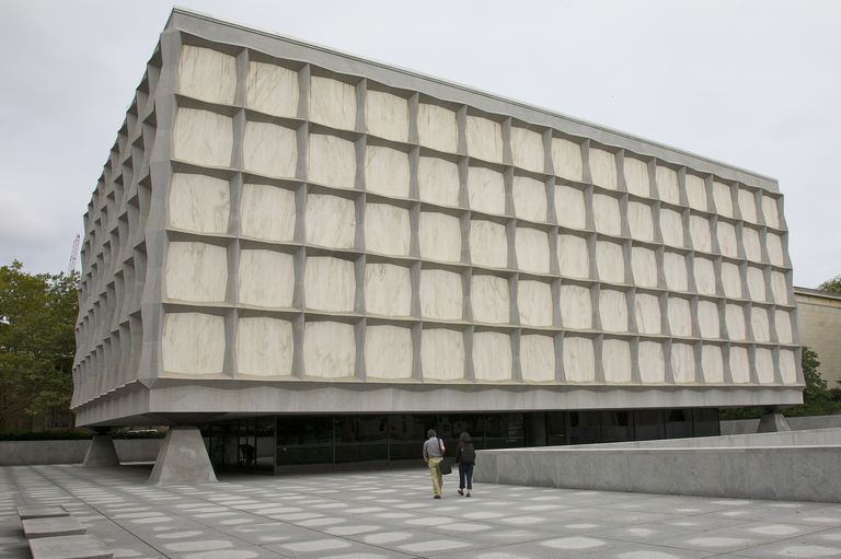 Exterior, Beinecke Rare Book and Manuscript Library, Yale University, New Haven, Connecticut