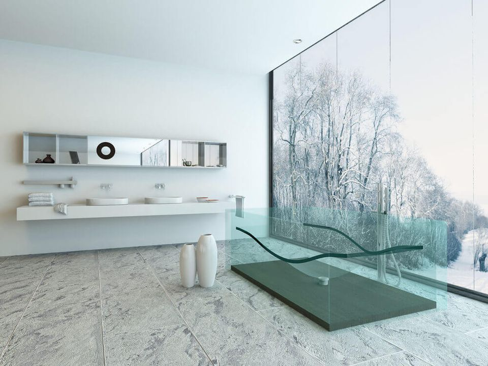 art hangs landscape modern the design in that luxury decorate harry looks bathroom this above durso sculpture proof great ideas edc best room bertoia xln serious bathrooms